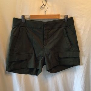 Athleta Olive green shorts, EUC, very soft, light